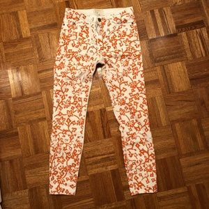 DVF patterned jeans